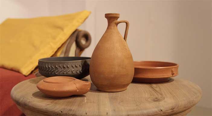 Ceramiche da mensa romane, riproduzioni da archeologia sperimentale - Mostra a Parma
