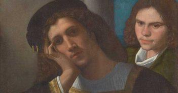 Giorgione, Due amici, 1502 c., Olio su tela, cm 77 x 66,5, Roma, Museo di Palazzo Venezia