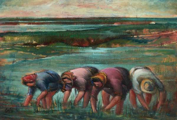 Betto Lotti Le mondine, 1952 olio su tela, cm 54x69 © Gli Eredi Betto Lotti