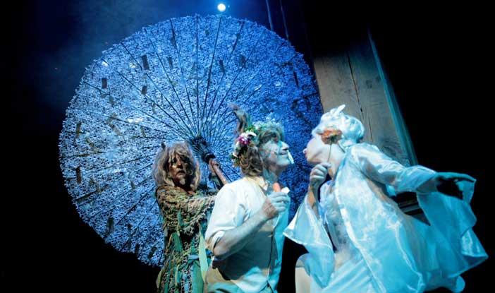Claudia Balboni e Gerolamo Alchieri al Toti Globe Theatre di Roma