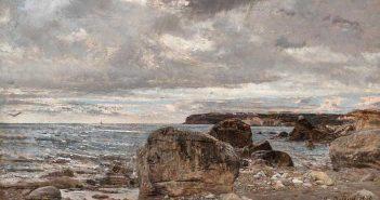 Giovanni Boldini (Ferrara 1842 – Parigi 1931), Marina, 1870, olio su tavola, courtesy Galleria Bottegantica - Milano