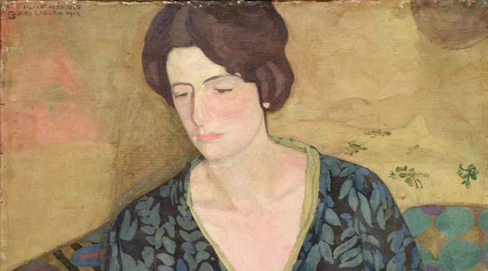 """Guido Cadorin, Chimono, 1914. Collezione privata - Mostra """" Secessione. Monaco, Vienna, Praga, Roma"""""""