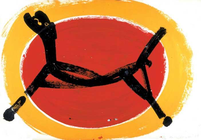 Marino Marini, Cavallo, 1953 (tempera e smalto su carta cm 43 x 62) Fondazione Marino Marini, Pistoia