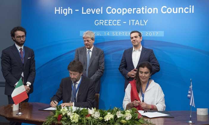 Firma accordo Italia - Grecia su contrasto traffico illecito beni culturali