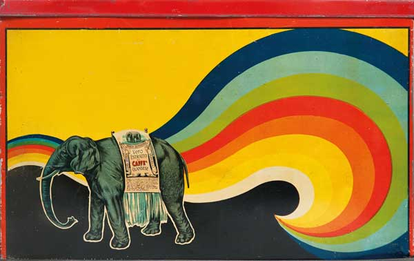 """Scatole del Caffé Rossa (antenato del Lavazza qualità Rossa) fra fine Ottocento e inizio Novecento - Mostra """"Pubblicità! La nascita della comunicazione moderna"""""""