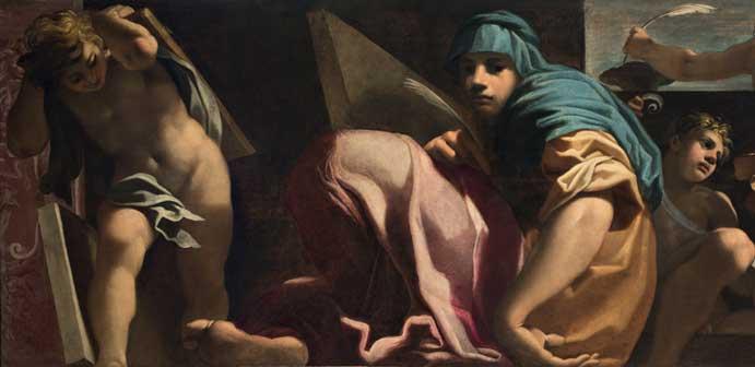 Carlo Bononi: Sibilla (particolare), c. 1610, Olio su tela, cm 125 x 290. Fondazione Cavallini-Sgarbi