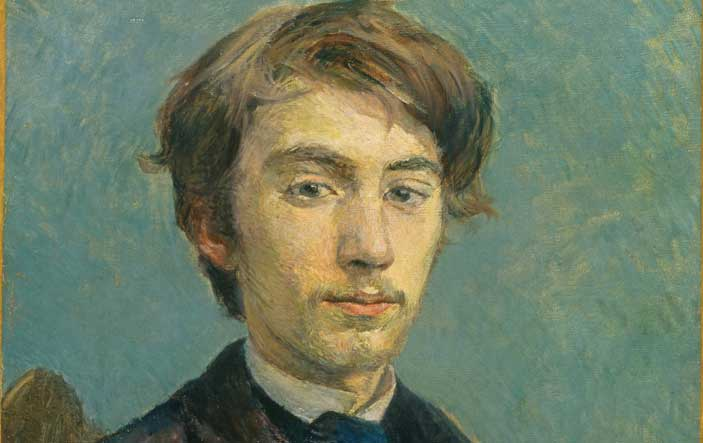 Henri de Toulouse-Lautrec, Emile Bernard, 1885, olio su tela, National Gallery, London (in deposito dalla Tate Gallery)