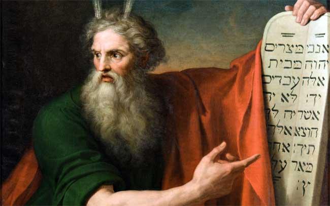 Giuseppe Diotti, Mosè presenta le tavole della legge, 1808, olio su tela, cm 162x116 (Museo Diotti, deposito dell'Accademia di Belle Arti di Brera)