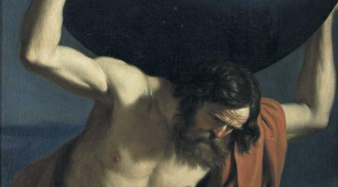 Guercino, Atlante, particolare, Museo Bardini - Mostra Rivoluzione Galileo