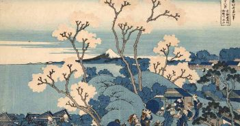 Katsushika Hokusai, Il Fuji da Gotenyama presso Shinagawa sul Tkaid, dalla serie Trentasei vedute del monte Fuji, 1830-1832 circa, Silografia policroma, Kawasaki Isago no Sato Museum