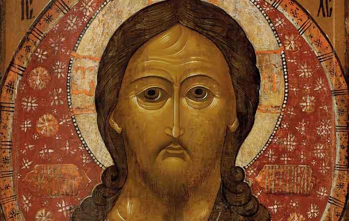 Cristo Pantocratore, Seconda metà del XVII secolo, 105,5 × 100,5 cm, Legno, tempera, Regione della Volga, Museo dell' icona russa
