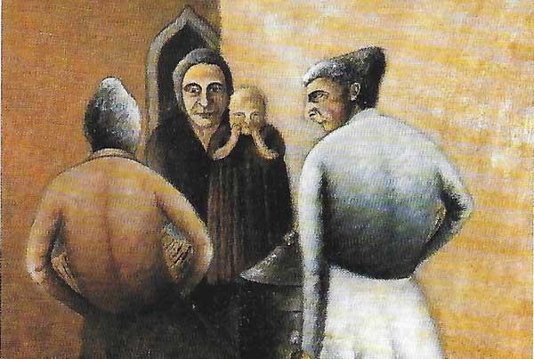 Opera di Ottone Rosai (particolare) - Mostra Soffici e Rosai. Realismo sintetico e colpi di realtà