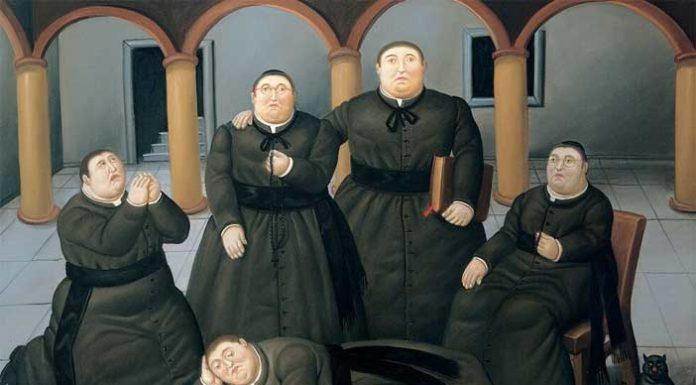 Fernando Botero,Seminario, 2004, Olio su tela, 151x193cm