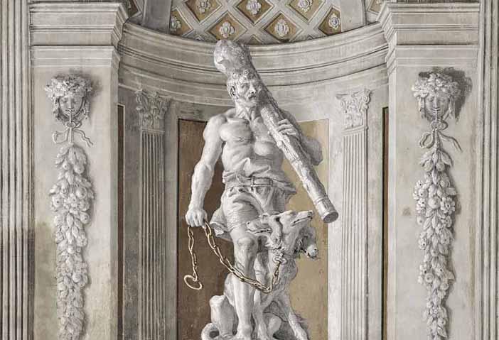 Giandomenico Tiepolo, Ercole con Cerbero incatenato