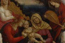 Gaudenzio Ferrari: Madonna con il Bambino, Sant'Anna, angeli musicanti e i donatori (particolare), tempera su tavola, cm 110x79, 1508-1509. Musei Reali di Torino - Galleria Sabauda