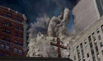 James Nachtwey, Crollo della torre sud del World Trade Center. New York, USA, 2001 © James Nachtwey