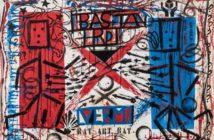 Pablo Echaurren, That's wall, Folks! , Acrilico su tela, 160 x 240 cm, 2016, Collezione Fondazione Roma Foto: © Giuseppe Schiavinotto