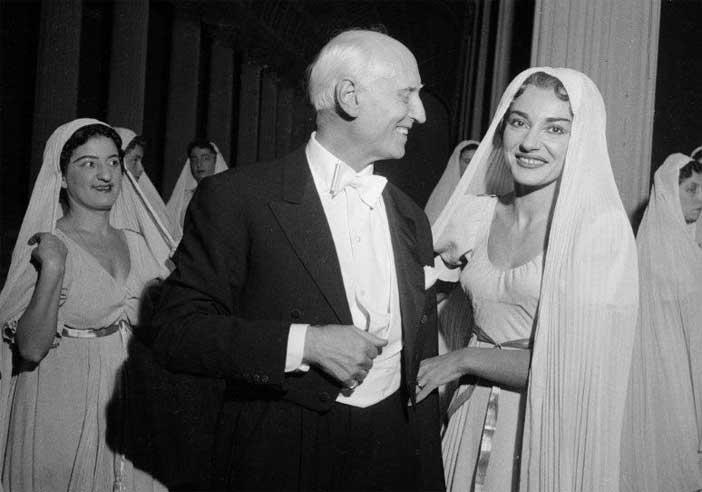 Victor de Sabata con Maria Callas
