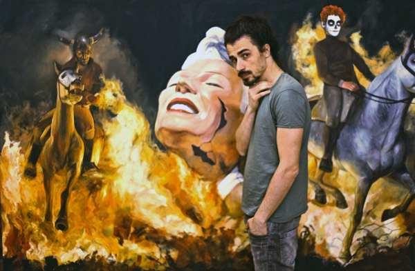 Desiderio, Kenosis (150x250cm) acrylic, 2017