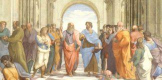 Raffaello, Scuola di Atene, particolare, Città del Vaticano