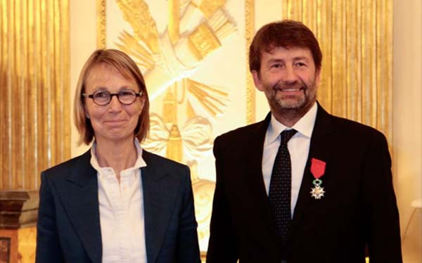 Françoise Nyssen e Dario Franceschini - Legion d'Onore a Parigi