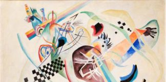 Wassily Kandinsky, Su bianco (I), olio su tela, 1920 ©State Russian Museum, St. Petersburg
