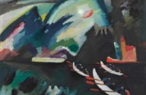 Vasilij Kandinskij: Lago. 1910. Olio su tela. 98 x 105. Mosca, Galleria Tret'jakovskaja - Mostra La Rivoluzione Russa