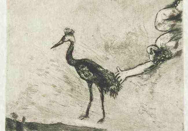 Chagall, Le rane vogliono un re -  Marc Chagall. Le favole
