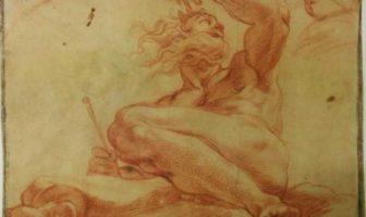 Agostino Carracci, Eolo custode dei venti carta, matita rossa, 264 x 327 mm, Modena, Galleria Estense Agostino Carracci, Eolo custode dei venti carta, matita rossa, 264 x 327 mm, Modena, Galleria Estense