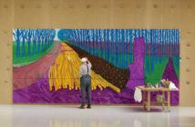 "David Hockney Painting ""Winter Timber"" in Bridlington, July 2009, © David Hockney, Photo Credit: Jean-Pierre Gonçalves de Lima"