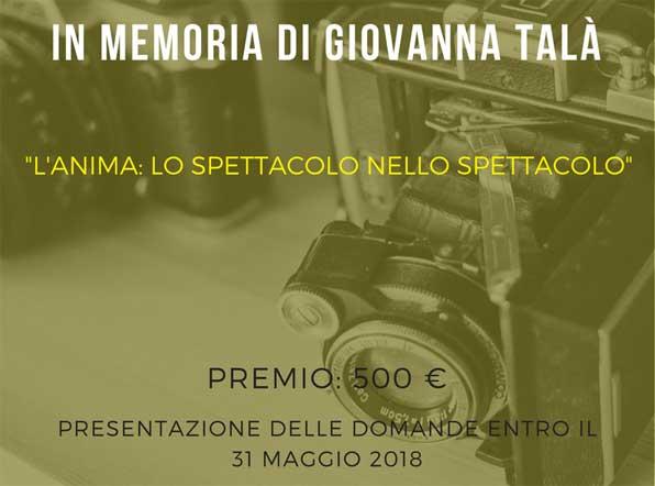 """Premio Internazionale di Fotografia """" Giovanna Talà """""""