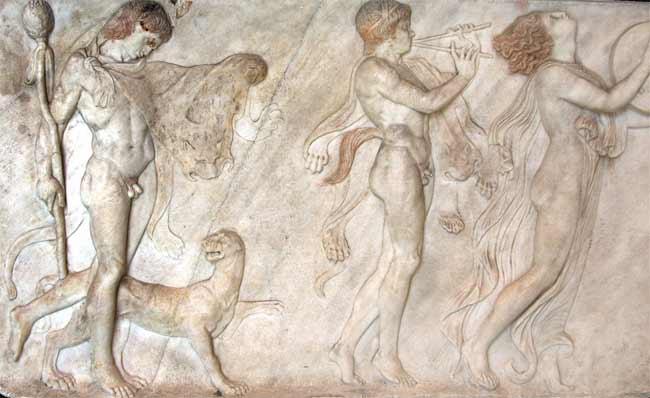 Bassorilievo Corteo bacchico da Ercolano marmo 68 cm x 114 cm Museo Archeologico Nazionale, Napoli