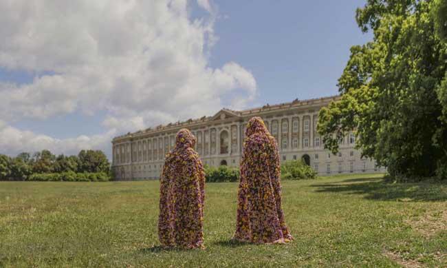 Esterno Reggia di Caserta, mostra La terra dei fiori