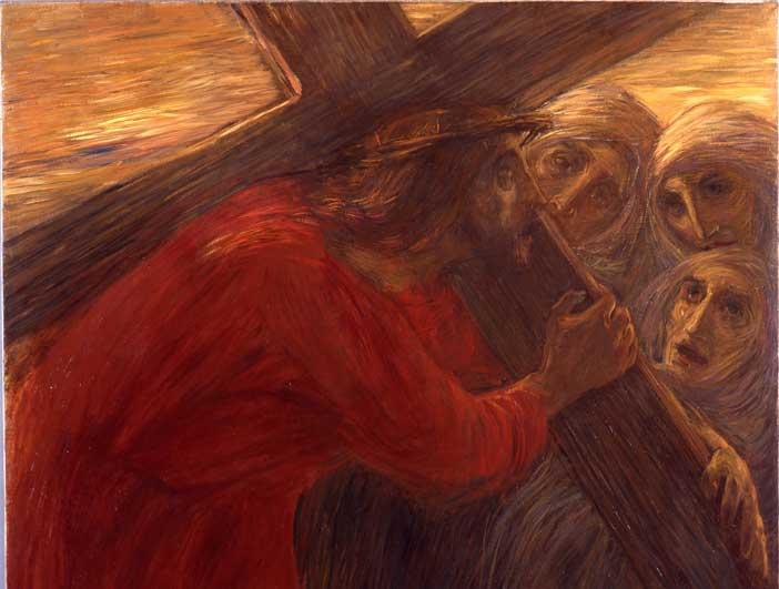 Gaetano Previati Via Crucis, 1901-1902, olio su tela Musei Vaticani, Collezione d'Arte Contemporanea