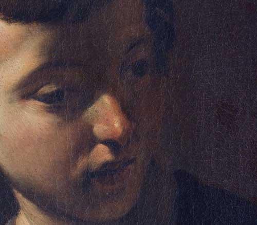 Giovanni Lanfranco, Giovane col berretto piumato