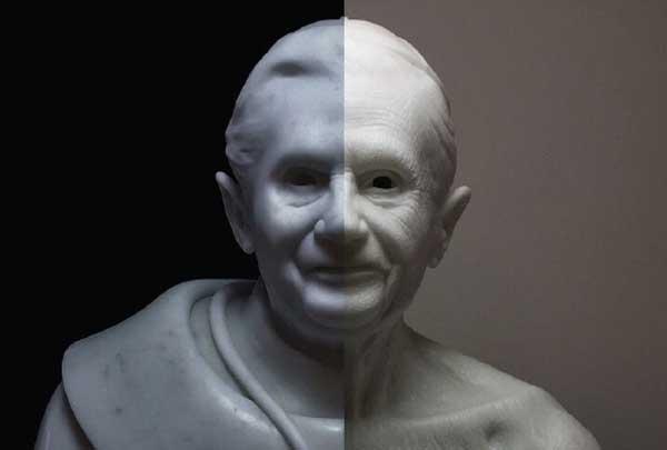 Jago, ritratti di Papa Benedetto XVI
