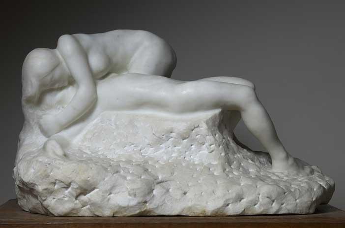 Auguste Rodin, La morte di Adone, 1891 marmo, 36 x 61,5 x 37 Parigi, musée Rodin © musee Rodin, foto Adam Rzepka