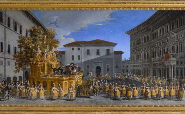 Johann Paul Schor, Il corteo del carro carnevalesco