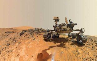 Un selfie dal cratere Gale © NASA/JPL-Caltech/MSSS - Mostra Marte. Incontri ravvicinati con il Pianeta Rosso