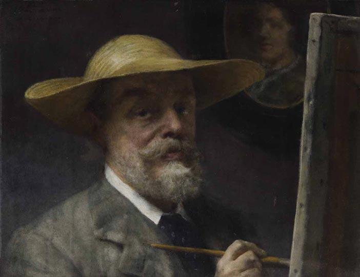 Lawrence Alma Tadema: Autoritratto, olio su tela, 61,5 x 45,5, 1907-1912