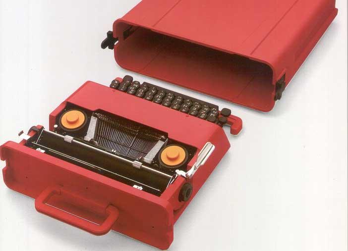 Valentine con valigetta, Macchina per scrivere manuale portatile 1969 ( Olivetti ), Ettore Sottsass