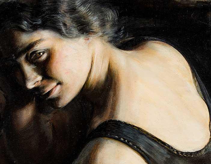 Giacomo Balla, Il dubbio, 1907-1908, olio su carta, Roma, Galleria d'Arte Moderna