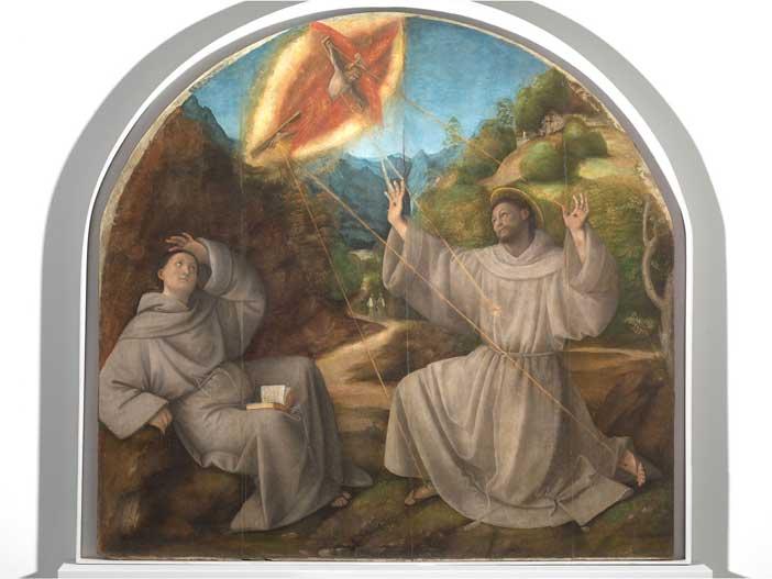 Gaudenzio Ferrari: Stigmate di San Francesco, tavola, cm 187,8 x 153,5, 1515-1517 c.a., Pinacoteca di Varallo (VC). Foto di Mauro Magliani, Barbara Piovan, Marco Furio Magliani