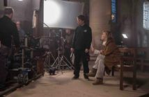 """Valeria Bruni Tedeschi durante le riprese del film """" Van Gogh. Tra il grano e il cielo """""""