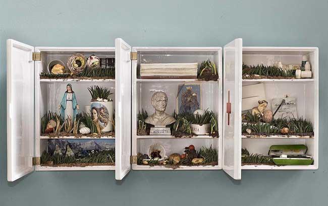Bertozzi & Casoni: Composizione, 2014, 3 moduli in ceramica - Opere dalla Collezione Merlini