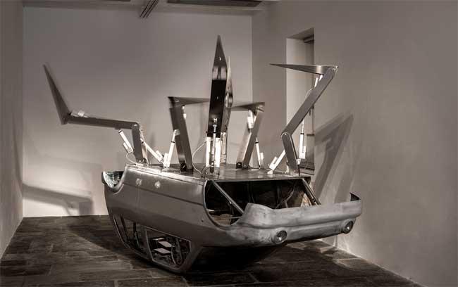 Donato Piccolo, Imprévisible, Project Room #7, Milano, Fondazione Arnaldo Pomodoro, immagini di allestimento, foto di Carlos Tettamanzi, courtesy Fondazione Arnaldo Pomodoro