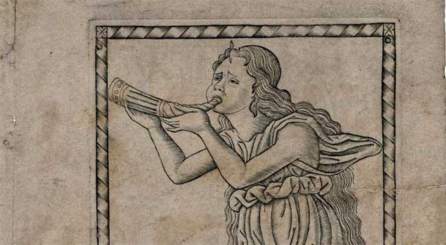 Tarocchi del Mantegna, D. MELPOMENE. XVII.17