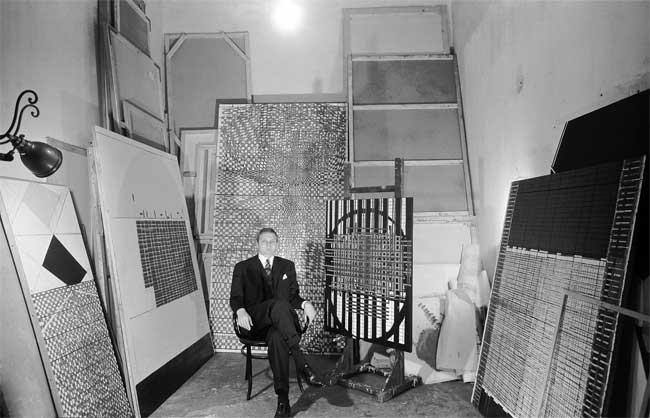 Paolo Masi, in studio, 1965