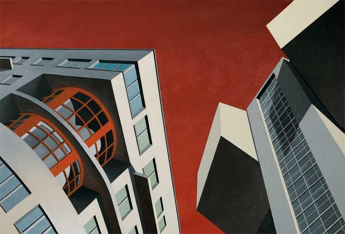 Marco Petrus, Architettonica, 2006, olio su tela, cm 170x250