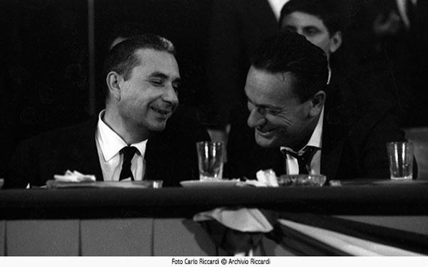 Aldo Moro e Benigno Zaccagnini in una foto di Carlo Riccardi - 1964